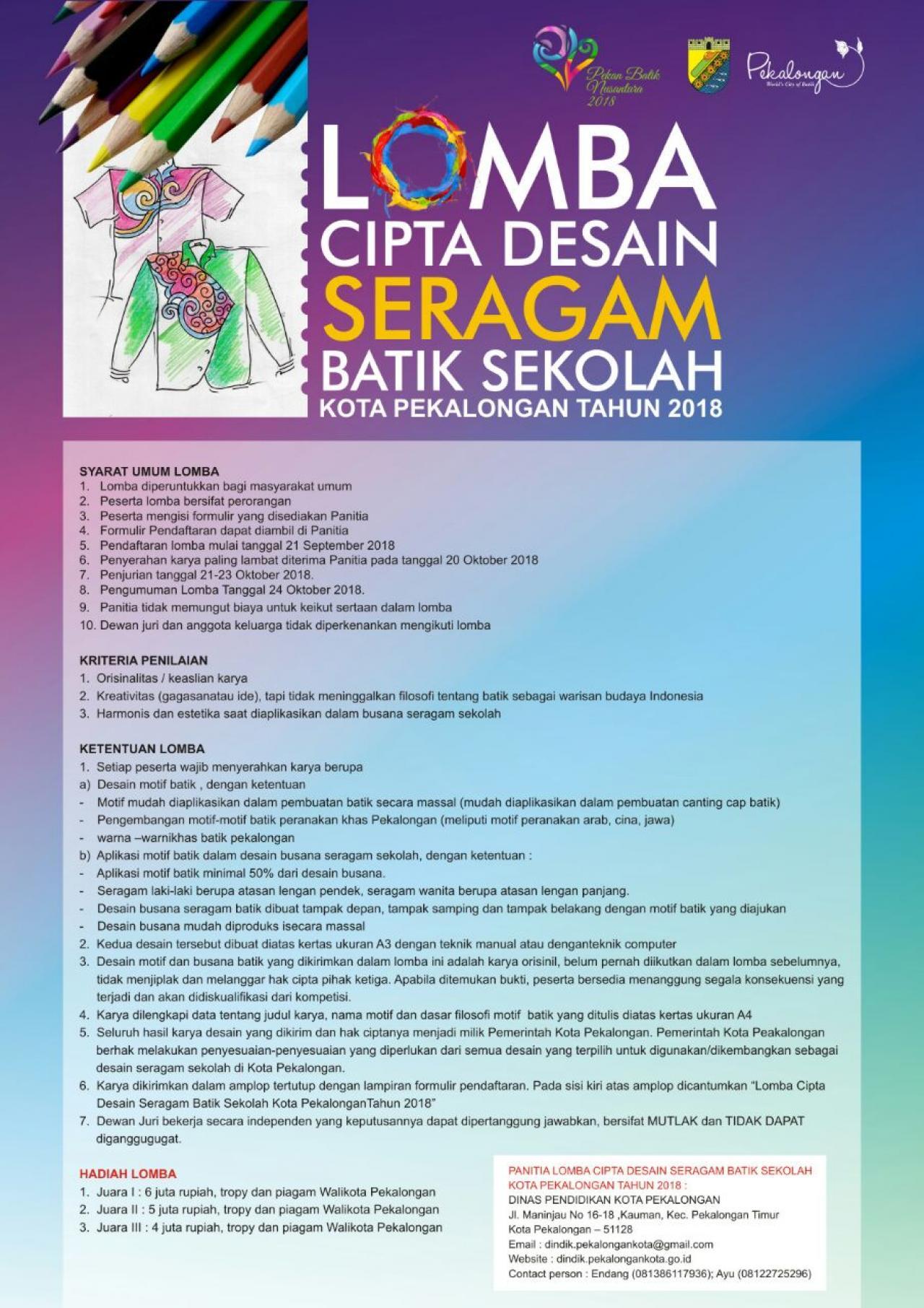 Download Desain Baju Batik Organisasi | Desaprojek